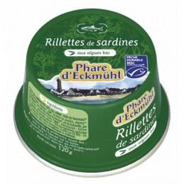Rillette sardines 120g phare