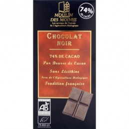 Chocolat noir 100g moulin des