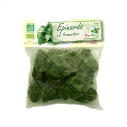 Epinards branches 450g aquibio