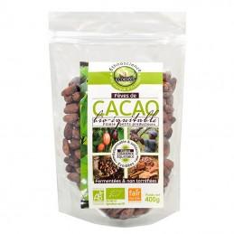 Feves de cacao entiere du...